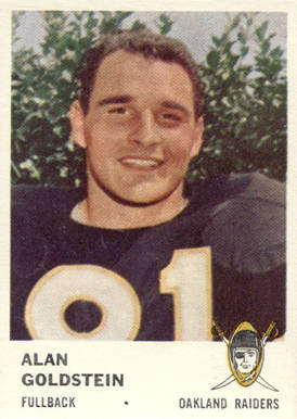 1961 Fleer Alan Goldstein #195 Football Card