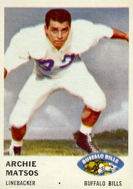 1961 Fleer Archie Matsos #142 Football Card