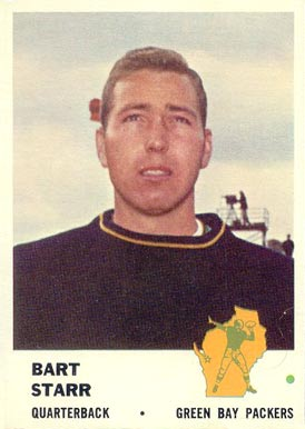 1961 Fleer Bart Starr #88 Football Card