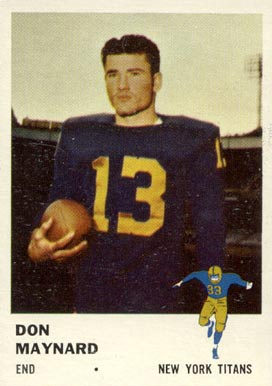 1961 Fleer Don Maynard #215 Football Card
