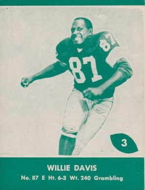 1961 Lake to Lake Packers Willie Davis #3 Football Card