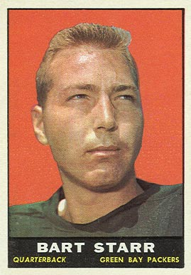 1961 Topps Bart Starr #39 Football Card