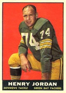 1961 Topps Henry Jordan #45 Football Card