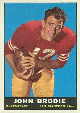 1961 Topps John Brodie #59 Football Card