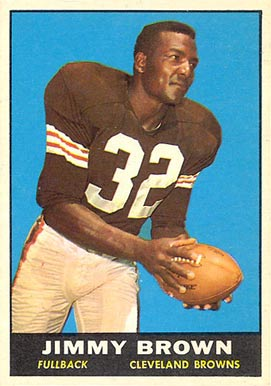 1961 Topps Jim Brown #71 Football Card Value Price Guide