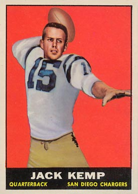 1961 Topps Jack Kemp #166 Football Card