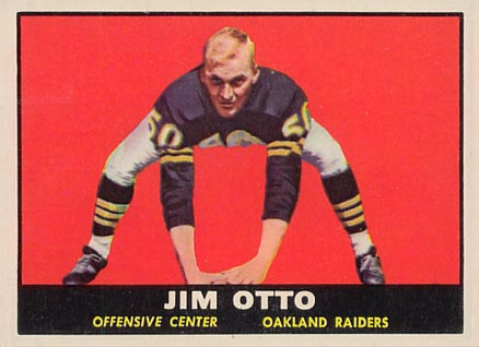 1961 Topps Jim Otto #182 Football Card