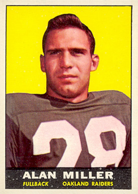 1961 Topps Alan Miller #185 Football Card