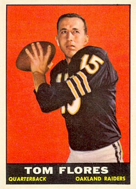 1961 Topps Tom Flores #186 Football Card