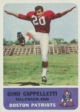 1962 Fleer Gino Cappelletti #3 Football Card
