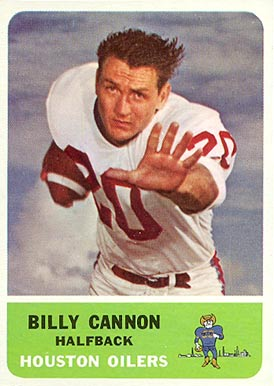 1962 Fleer Billy Cannon #47 Football Card