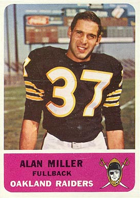1962 Fleer Alan Miller #67 Football Card