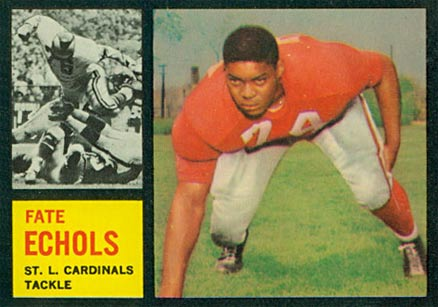 1962 Topps Fate Echols #149 Football Card