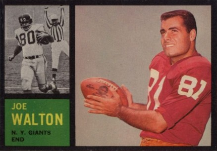 1962 Topps Joe Walton #103 Football Card