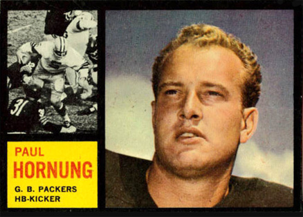 1962 Topps Paul Hornung #64 Football Card