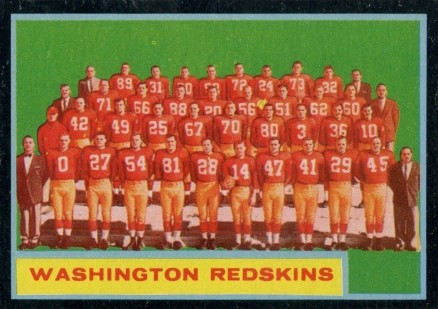 1962 Topps Washington Redskins Team #175 Football Card