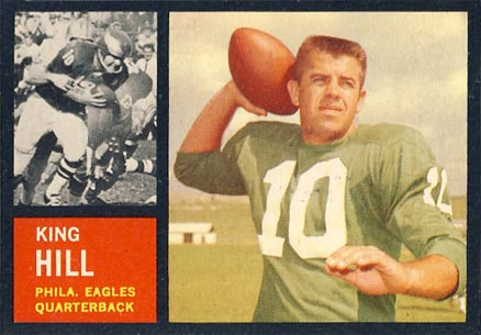 1962 Topps King Hill #123 Football Card