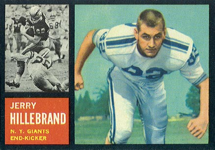 1962 Topps Jerry Hillebrand #113 Football Card