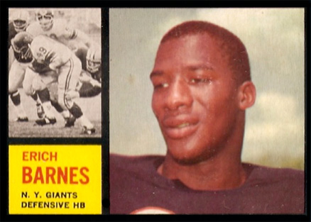 1962 Topps Erich Barnes #111 Football Card