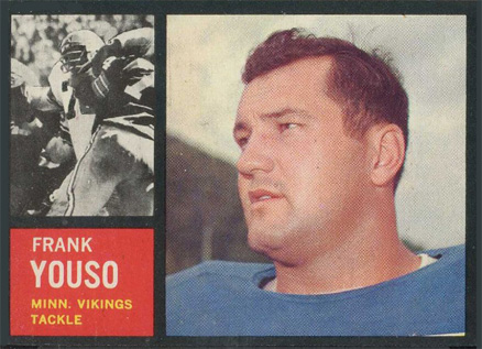 1962 Topps Frank Youso #96 Football Card