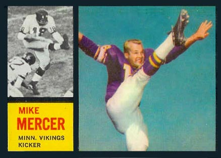 1962 Topps Mike Mercer #97 Football Card