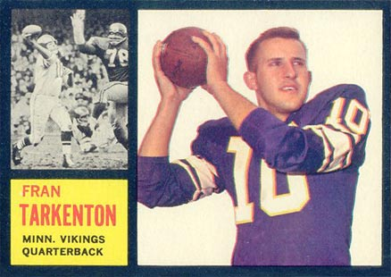 1962 Topps Fran Tarkenton #90 Football Card