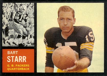 1962 Topps Bart Starr #63 Football Card
