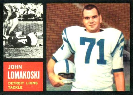 1962 Topps John Lomakoski #61 Football Card