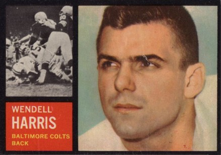 1962 Topps Wendell Harris #11 Football Card