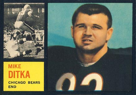 1962 Topps Mike Ditka #17 Football Card
