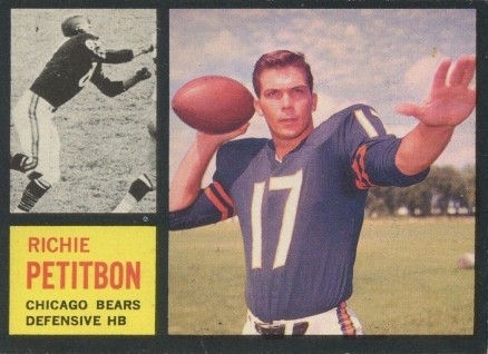 1962 Topps Richie Petitbon #23 Football Card