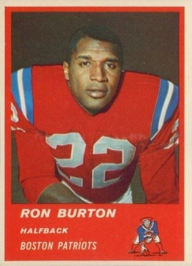 1963 Fleer Ron Burton #3 Football Card