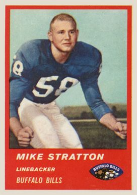 1963 Fleer Mike Stratton #32 Football Card