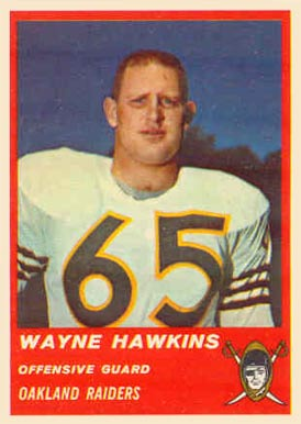 1963 Fleer Wayne Hawkins #61 Football Card