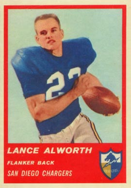 1963 Fleer Lance Alworth #72 Football Card