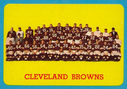 1963 Topps Cleveland Browns Team #24 Football Card
