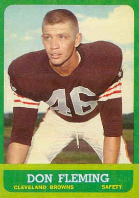 1963 Topps Don Fleming #22 Football Card