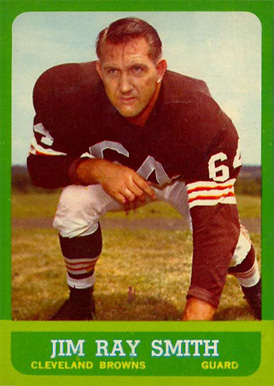 1963 Topps Jim Ray Smith #18 Football Card