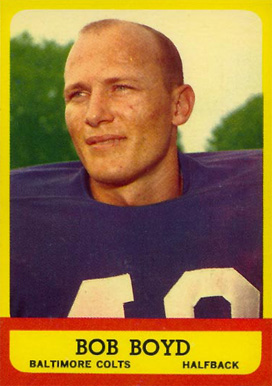 1963 Topps Bob Boyd #11 Football Card