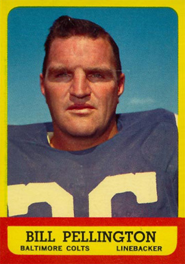 1963 Topps Bill Pellington #10 Football Card