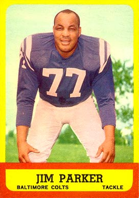 1963 Topps Jim Parker #5 Football Card