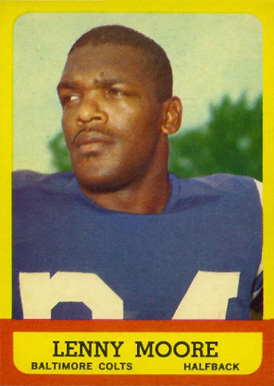 1963 Topps Lenny Moore #2 Football Card