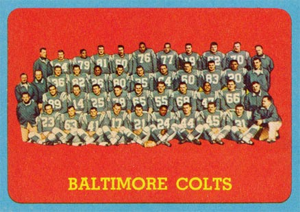 1963 Topps Baltimore Colts Team #12 Football Card