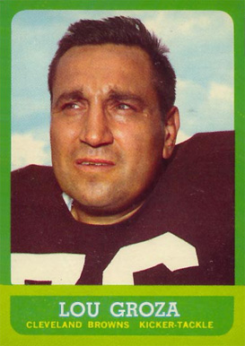 1963 Topps Lou Groza #19 Football Card