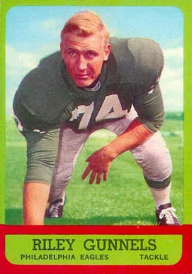 1963 Topps Riley Gunnels #119 Football Card