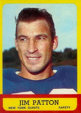 1963 Topps Jim Patton #58 Football Card