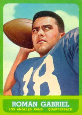 1963 Topps Roman Gabriel #37 Football Card