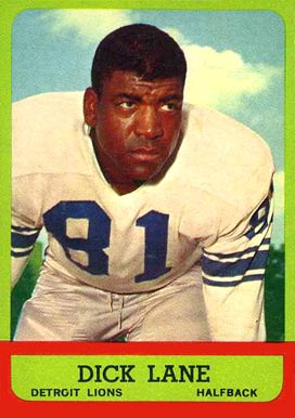 1963 Topps Dick Lane #32 Football Card