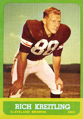 1963 Topps Rich Kreitling #16 Football Card