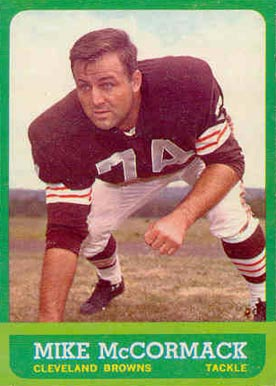 1963 Topps Mike McCormack #17 Football Card